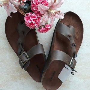 Sonoma genuine leather fancy slip on sandals